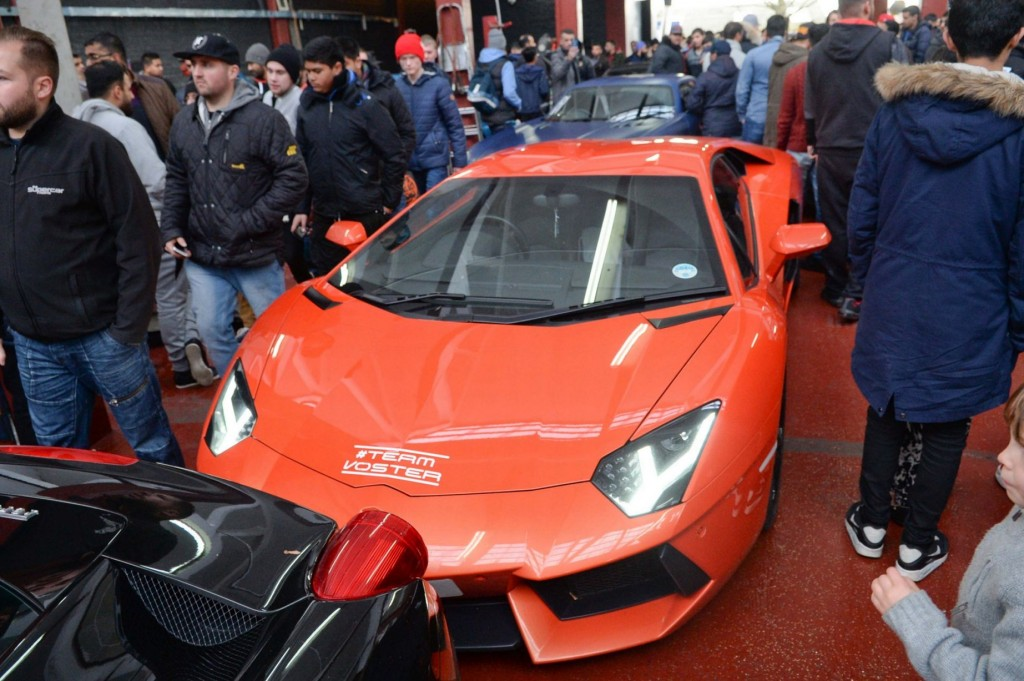 Orange Lamborghini Aventador, picture courtesy of Birmingham Mail