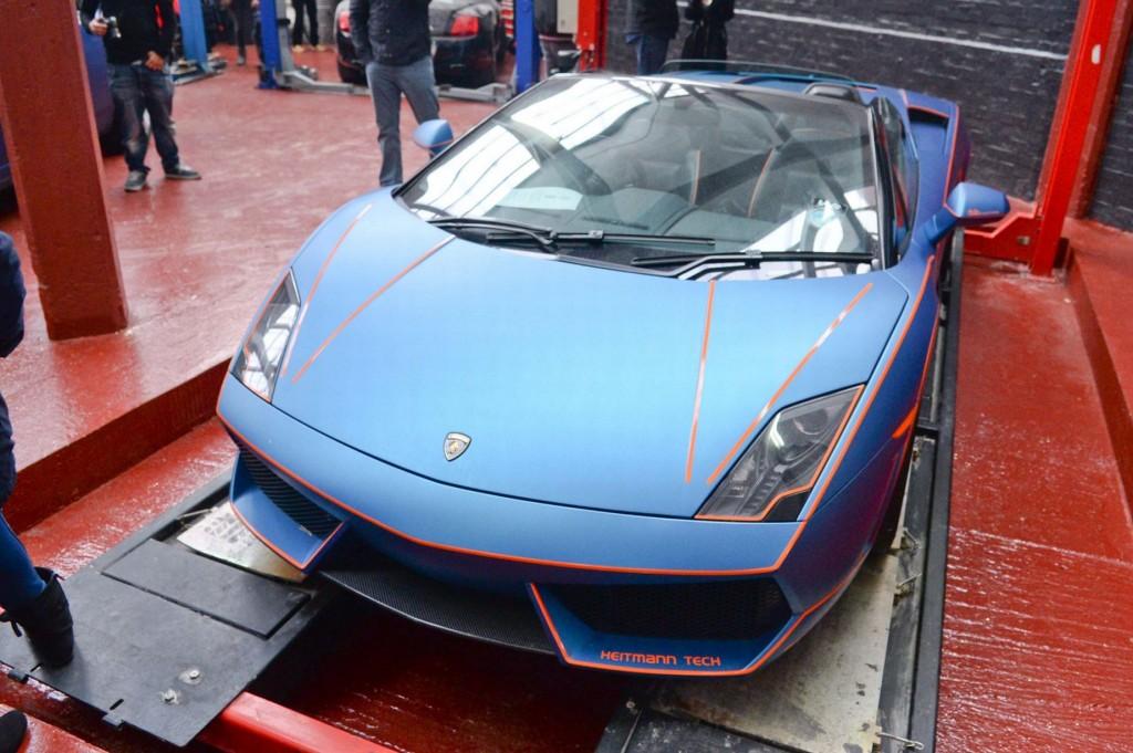 Tron-style Lamborghini Gallardo, picture courtesy of Birmingham Mail
