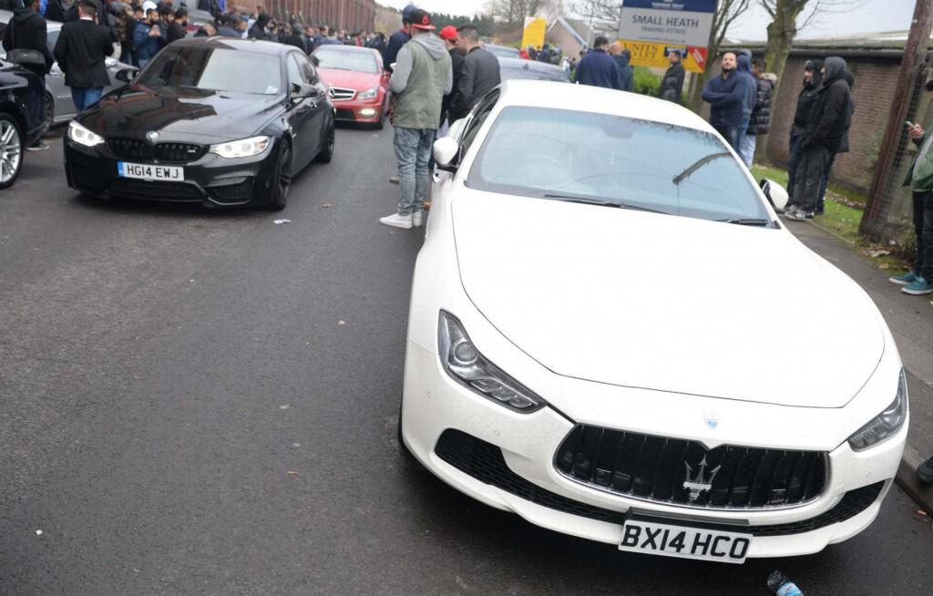 White Maserati, picture courtesy of Birmingham Mail