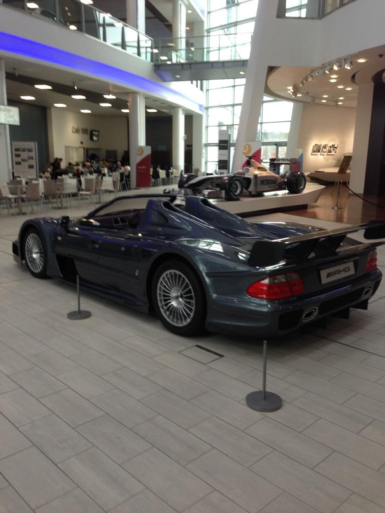 Rear view of the Mercedes Benz CLK GTR
