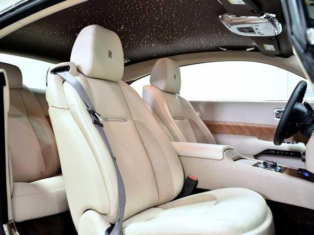 Rolls-Royce Wraith interior with star-studded headliner
