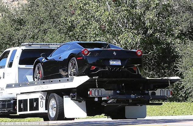 Justin Biebers Ferrari 458 in Black