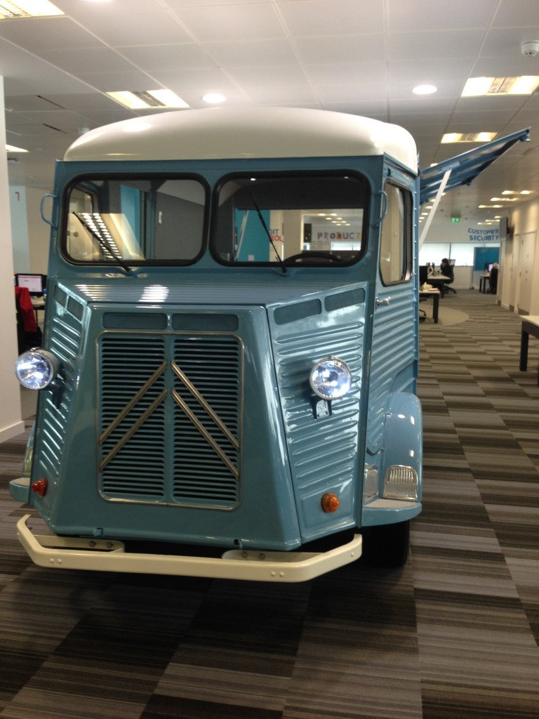Pastel blue Citroen H Van