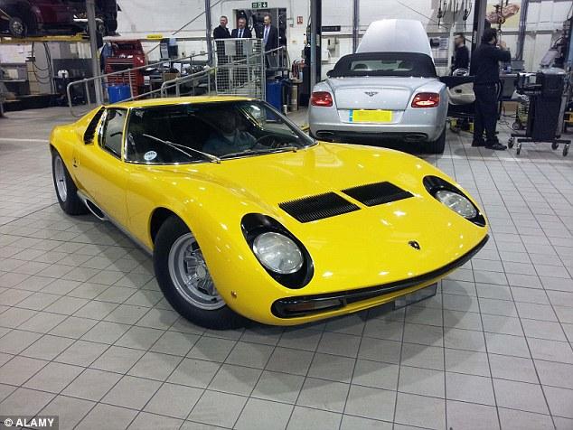 The iconic Lamborghini Miura