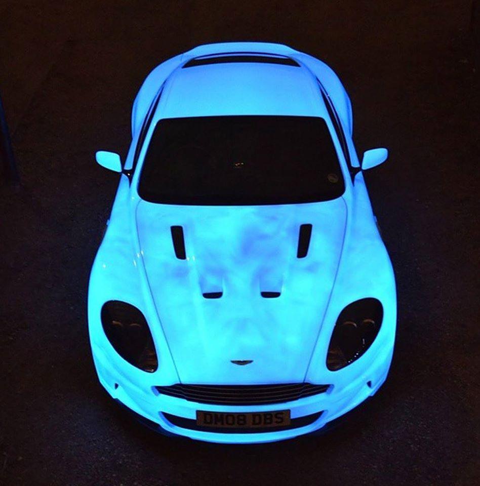 Team: Team 46 Car: Glow in the dark Aston Martin DBS