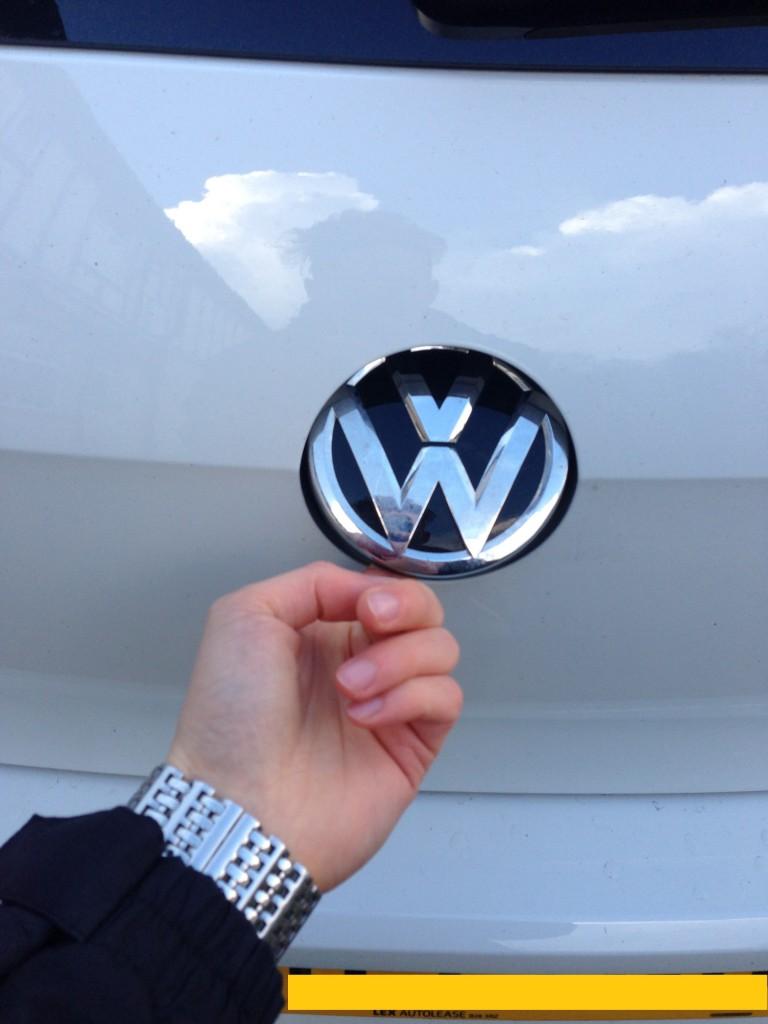 Boot open mechanism is the VW badge