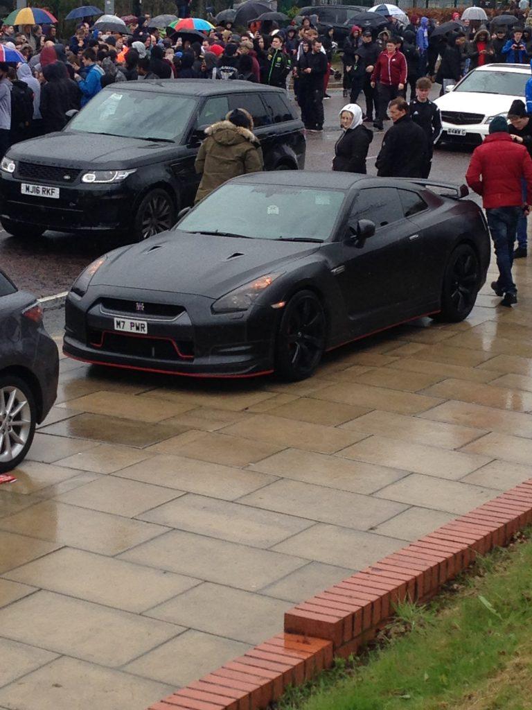 Matte black Nissan GTR